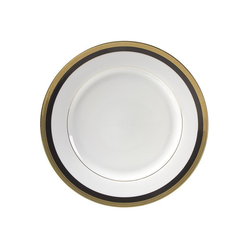 "10 Strawberry Street Sahara Black 9.13"" Luncheon Plates- Pack Of 24 SAH-2BK - Comstrom"