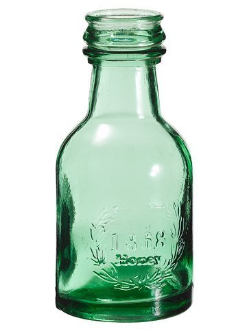 "6"" Honey Glass Bottle Green 12 Pieces ACG527-GR"