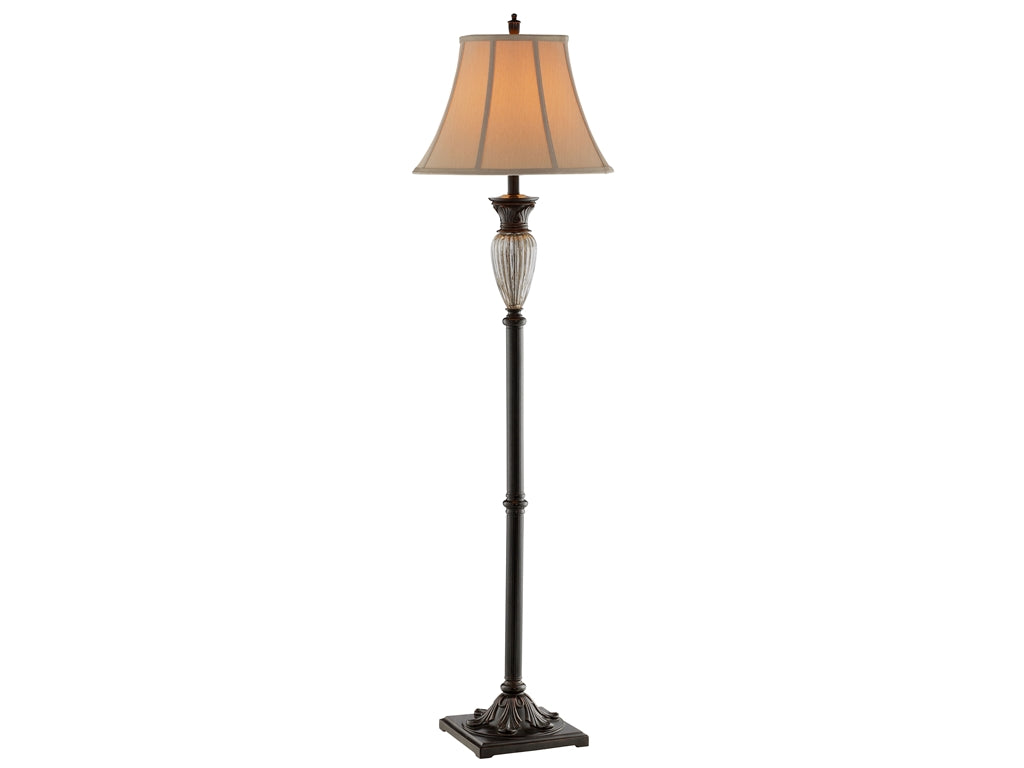 Stein World Tempe Ribbed Crackle Glass Floor Lamp 98306 Comstrom