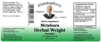 Metaburn Herbal Weight Capsule Label