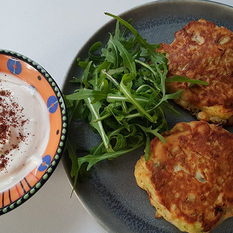 Leek and Feta Fritters