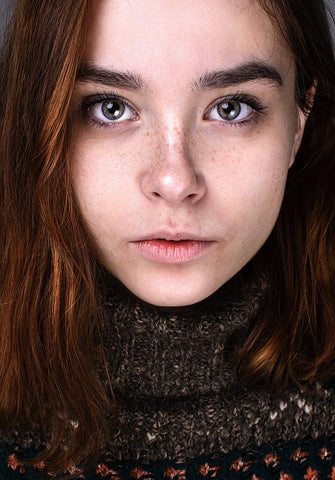 Person's face with dry skin, for Ivy Leaf Skincare blog