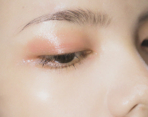 Woman's eye with light eyeshadow, for Ivy Leaf Skincare