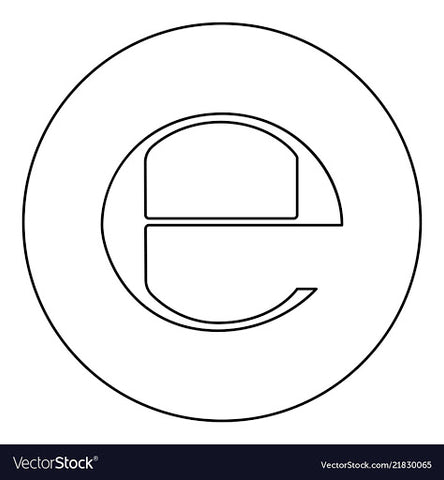 E-mark symbol, for Ivy Leaf Skincare blog