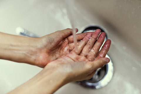 Washing hands, for Ivy Leaf Skincare