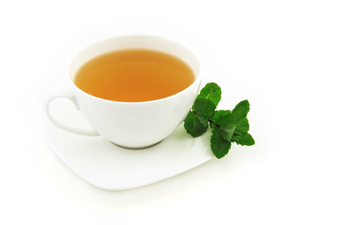 Cup of green tea, for Ivy Leaf Skincare blog