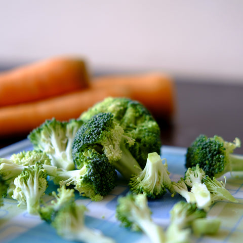 Broccoli and carrots to represent vitamin A, for Ivy Leaf Skincare blog