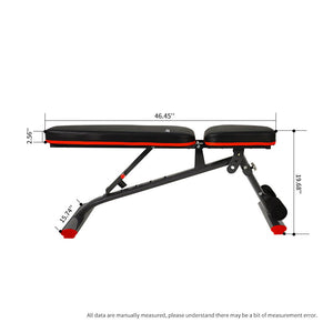 JOROTO Adjustable Weight Bench Utility Workout Bench - JOROTO MD30