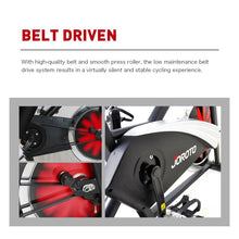 Magnetic Indoor Cycling Bike with Belt Drive - JOROTO X2 (updated 300 lbs weight capacity) - jorotofitness