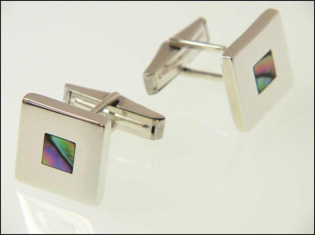 Abalone cufflinks ( mechanical )