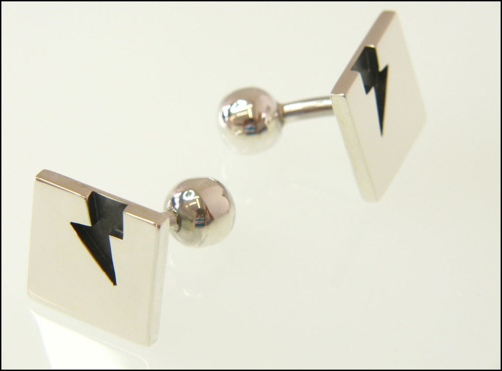 Lightning bolt cufflinks ( fixed )