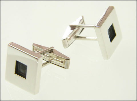 Black square cufflinks ( mechanical )