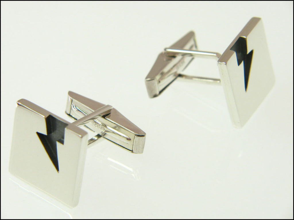 Lightning bolt cufflinks ( mechanical )