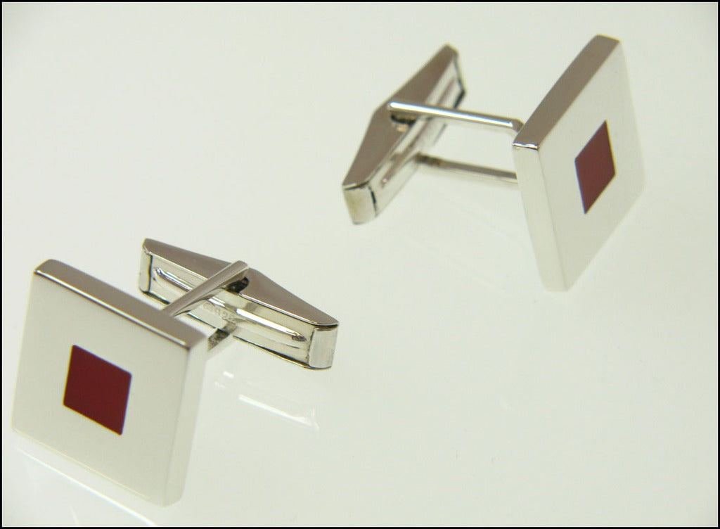 Red square cufflinks ( mechanical )