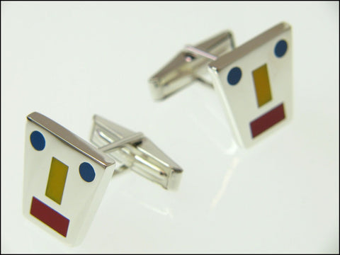 Mondrian cufflinks ( mechanical )