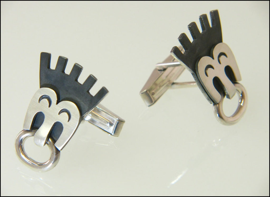 Comic book  cufflinks ( mechanical )