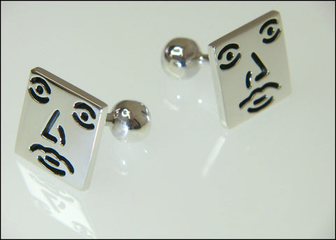 Square guy cufflinks ( fixed )