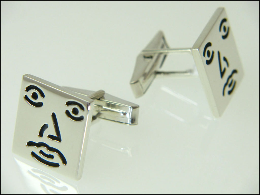 Square guy cufflinks ( mechanical )
