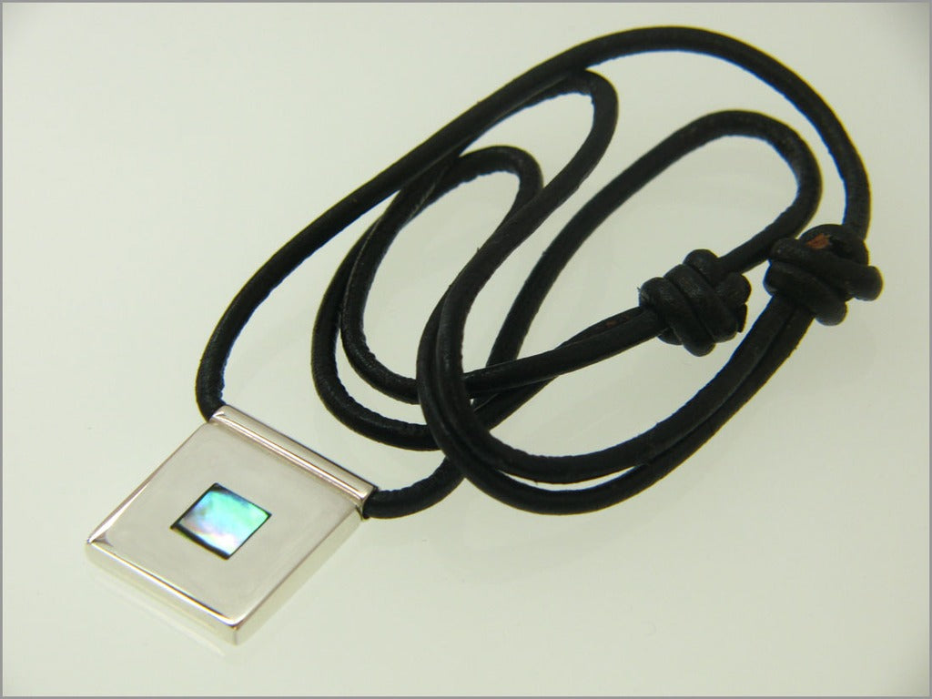Abalone square necklace
