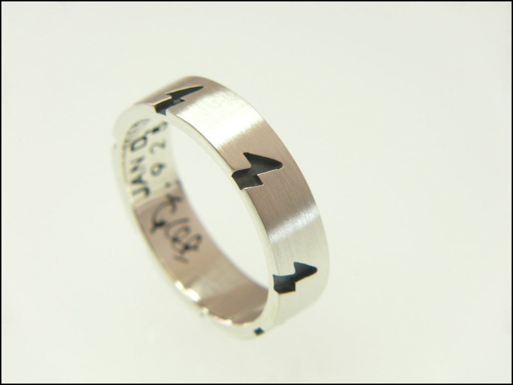 Lightning bolt ring