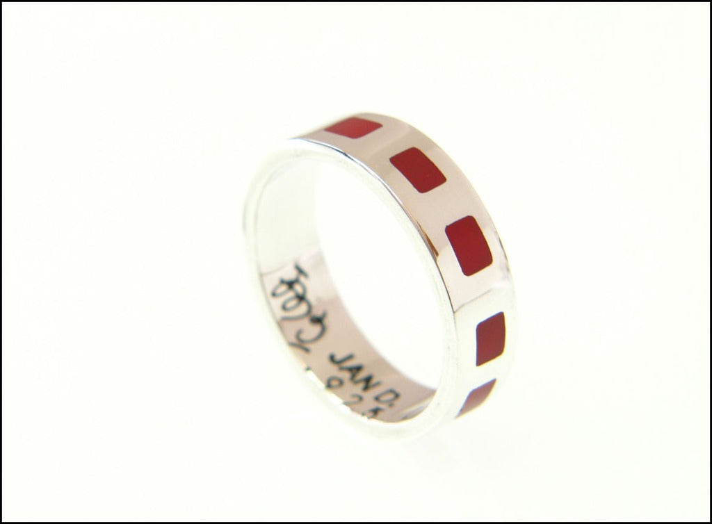 Red square ring