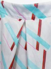 Load image into Gallery viewer, Plus Sized Pastel Rainbow Chevron Pleated Midi Skirt