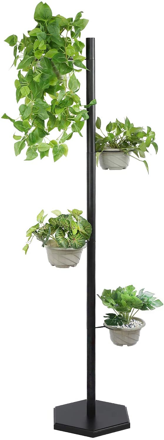 Black Minimal Modern Plant Stand for Narrow Spaces