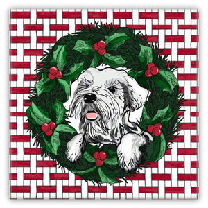 Bridget the Christmas Schnauzer Magnet