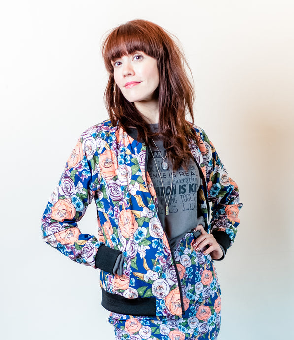 Grandma Chic Bomber Jacket-Women