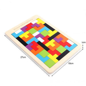 Colorful Wood Montessori Non Toxic Tangram Puzzle