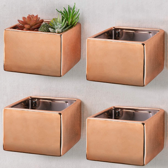 Modern Geometric Floating Ceramic Planters