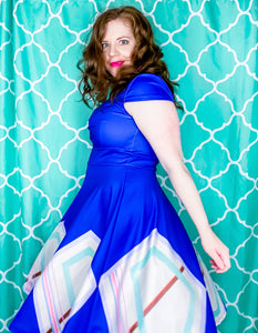 Blue Moon Ruched Retro Dress