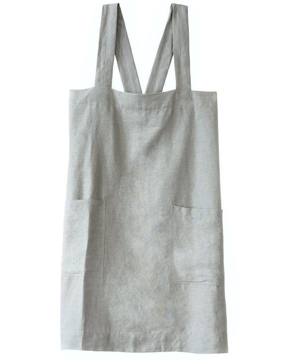 Cotton Cross-Shoulder Apron with Pockets