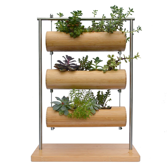 3 Tiered Bamboo Tabletop Planter