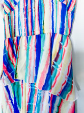 Load image into Gallery viewer, Rainbow Chiffon Tiered Ruffle Dress