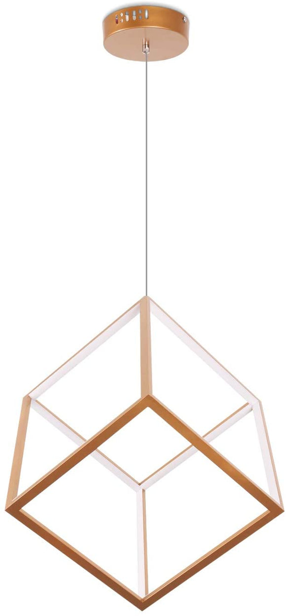 Minimal Cube LED Pendant Light