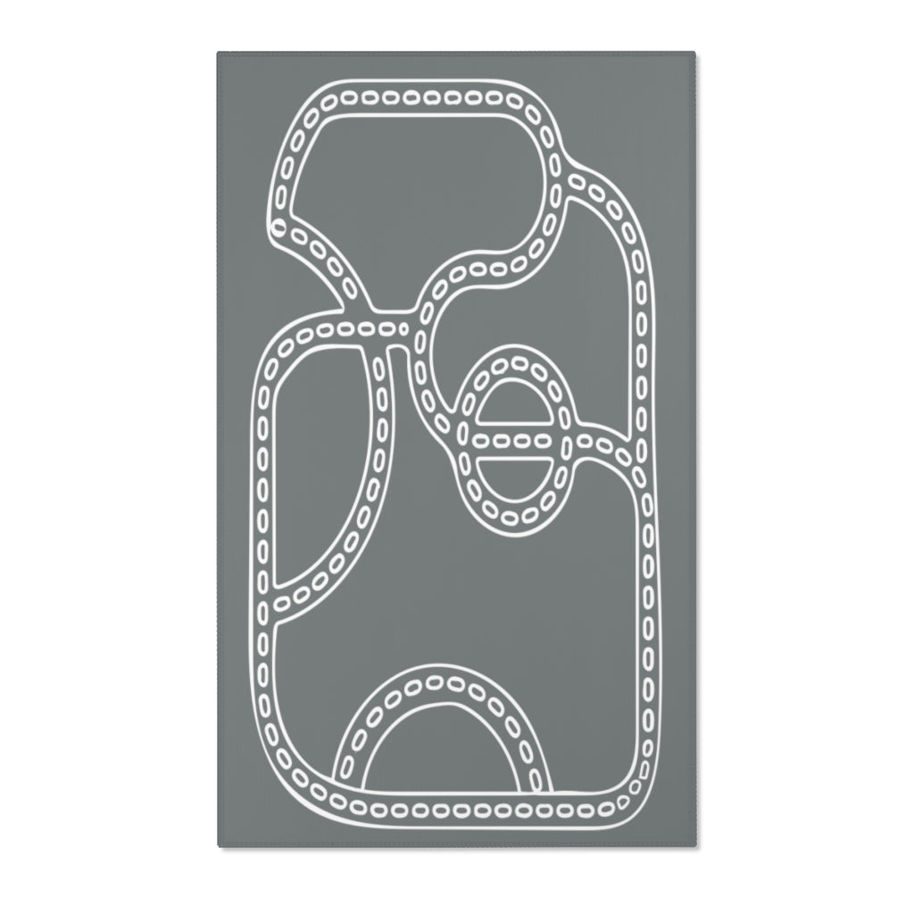 Minimalist Road Play Mat Area Rug