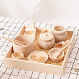 Wooden Sensory Tool Kit with Tray