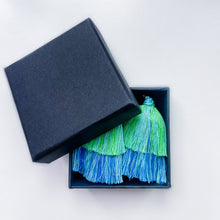 Load image into Gallery viewer, Handmade Tiered Multi-Colored Tassel Earrings