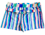 Retro Rainbow Two-Piece Boy Short Bikini Swim Suit