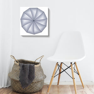 "Canvas Print of Original ""Hendecagon"" Painting"