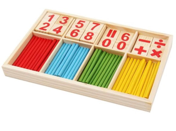 Montessori Math Wooden Counting Stick Set