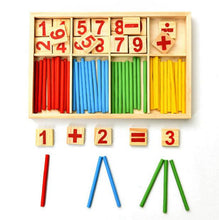 Load image into Gallery viewer, Montessori Math Wooden Counting Stick Set