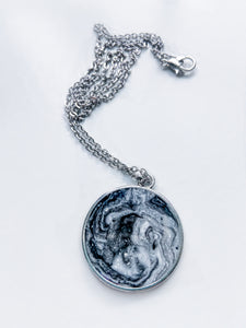 Handmade Marble Resin Pendant Necklace