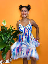Load image into Gallery viewer, Dripping Rainbow Chiffon Tiered Ruffle Maxi Dress