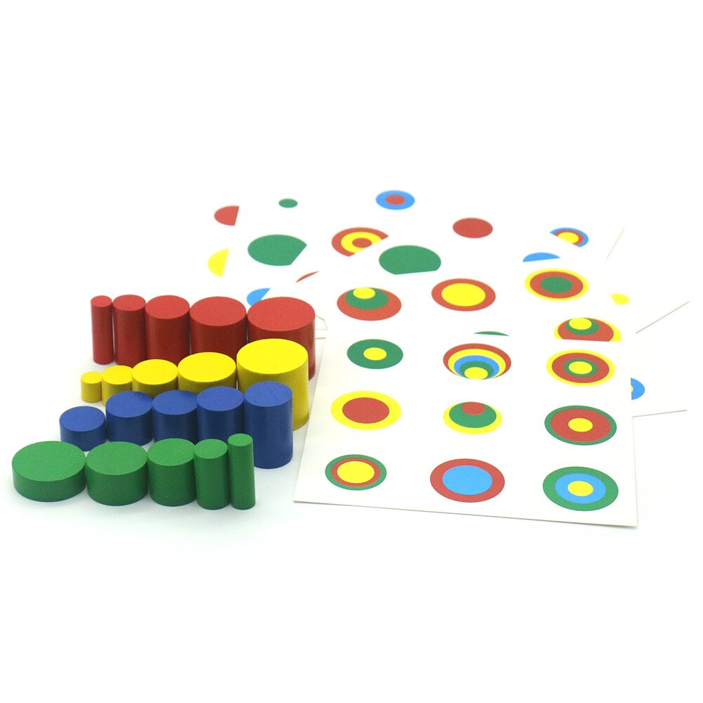 Montessori Cylinder Blocks and Stacking Cards