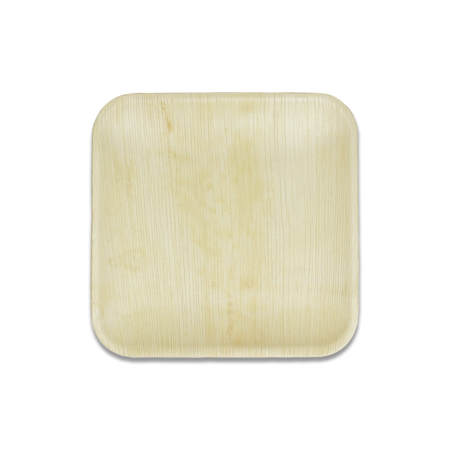 "Disposable Eco Friendly Non Toxic Palm Leaf 8"" Inch Square Plates"