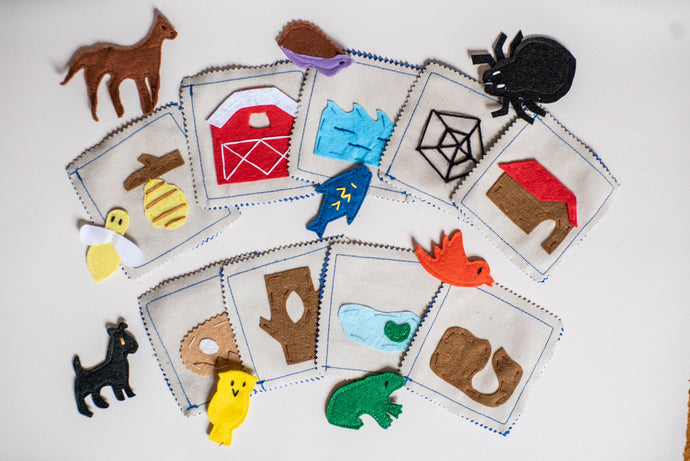 Handmade Upcycled Animal Habitat Matching Game