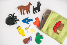 Load image into Gallery viewer, Handmade Upcycled Animal Habitat Matching Game