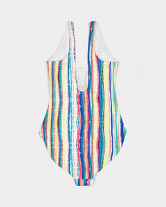 Dripping Rainbow One-Piece Swimsuit